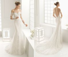 Dore gown by Rosa Clara, elegant off-the-shoulder design with dreamy lace details!