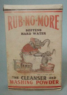 icollect247.com Online Vintage Antiques and Collectables - FULL BOX OF RUB NO MORE WASHING POWDER WITH ELEPHANTS