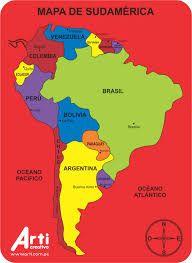 Resultado de imagen para mapa de sudamerica