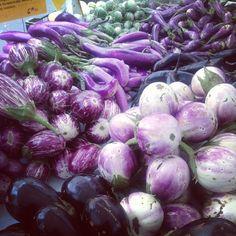 #farmersmarketnyc #eggplants! Via bonniestern on Instagram
