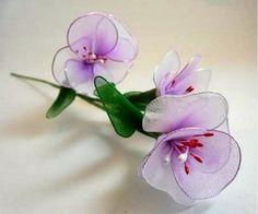 Flores con medias paso a paso