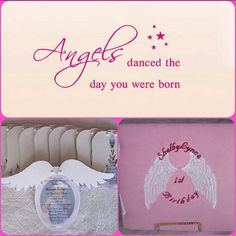Angel Wing Invitation/Announcement Set by princessbooksbyjmh