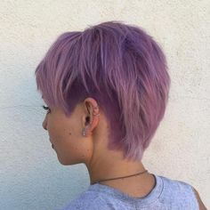 pastel purple layered pixie