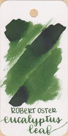 Robert Oster Eucalyptus Leaf — Mountain of Ink Calligraphy Pens, Eucalyptus Leaves, Fountain Pen Ink, Instagram Feed, Mountain, Green, Art Supplies, Stationary, Ink Cartridges
