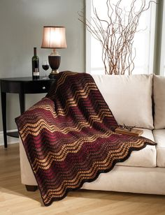 Use your imagination to crochet this great ripple crochet blanket