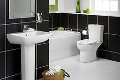 B_DIY_Bathroom_Suites_Ranges_Vue_NEW - B&Q for all your home and garden supplies and advice on all the latest DIY trends Complete Bathrooms, Dream Bathrooms, Modern Bathroom, Small Bathroom, Bathroom Inspo, Bathroom Ideas, Bathroom Designs India, Portable Bathroom, Close Coupled Toilets
