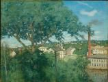 Julian Alden Weir. The Factory Village, 1897, Oil on Canvas,