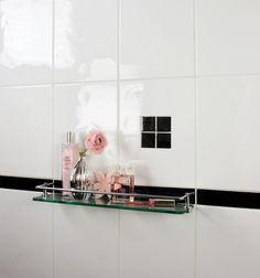 Sparkle Black Glass Border | Topps Tiles