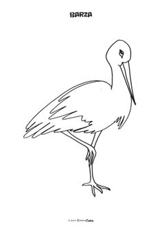 Fise de Colorat (Editura Caba) Activities For Kids, Crafts For Kids, Bird Crafts, Templates Printable Free, Stork, Wood And Metal, Animals And Pets, Rooster, Free Pattern