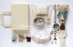Available: Manomine mini bear boxed set Noa Handmade Stuffed Animals, Luanna, Fabric Animals, Fox Pattern, Fabric Toys, Toy Craft, Doll Maker, Diy Toys, Children's Toys