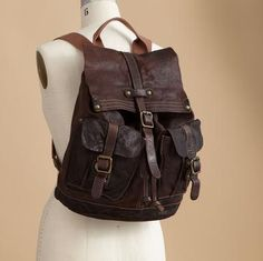 Sundance Washed Leather Backpack $348.00