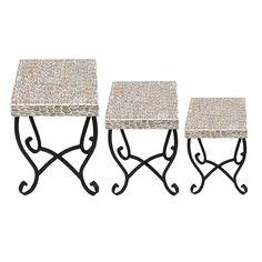 3 Piece Mosaic Table Set