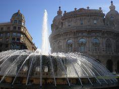 Piazza de Ferrari, Genova, Italy