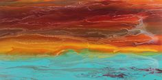 "Sunrise Reflections II by Kimberly Conrad Acrylic ~ 24"" x 48"""