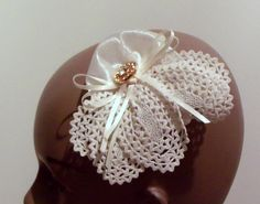 Vintage French Lace handmade fascinator, comb piece.. $19.95, via Etsy.