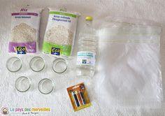 materiel riz coloré