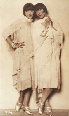 The Dolly Sisters, c. 1928-29 by Madame d'Ora (born Dora Philippine Kallmus. Austrian, 1881-1963)