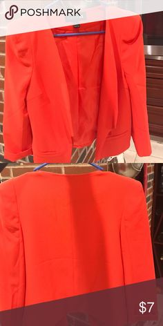Forever21 open front jacket Red blazer lightweight fits like s Forever 21 Jackets & Coats Blazers