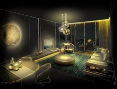 Best lighting design presentation images architecture