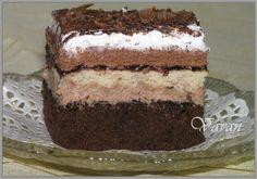 Kocky s plnkou z mascarpone, Nutelly, keksov a slivkového lekváru. Nutella, Tiramisu, Sweets, Ethnic Recipes, Food, Cakes, Mascarpone, Gummi Candy, Cake Makers