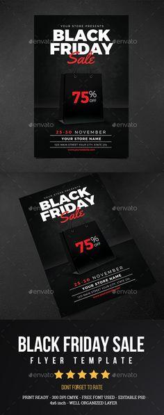 Black Friday sale event flyer design template Black Friday Flyer - black flyer template