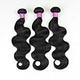 Eayon Hair Brazilian Virgin Hair Body Wave 100% Unprocessed Human Hair Extensions 6a Grade Natural Color 3 Bundles Size 22inch 24inch 26inch