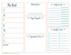 {Day 4} Printable Daily Planner