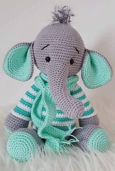 44 Awesome Crochet Amigurumi Patterns For You Kids for 2019 Part amigurumi for beginners; amigurumi for kids;Amigurumi Do ZeroThis is so cute,hope I can make it! Crochet Amigurumi Free Patterns, Crochet Animal Patterns, Stuffed Animal Patterns, Crochet Animals, Crochet Dolls, Knitting Patterns, Crochet Elephant Pattern Free, Kids Patterns, Amigurumi Tutorial