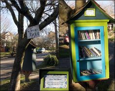 https://flic.kr/p/dGV9qb | 2012-12-30 Little Free Library | While walking in my neighborhood last Sunday I spotted this wonderful community effort. Want a book to read? Feel free to take one and replace it with one that you're finished with.  I hope this library lasts a long, long time!