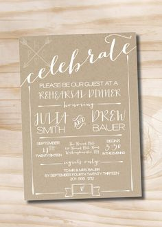 CELEBRATE Poster Engagement Party Invitation by PaperHeartCompany, $16.00