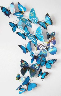 12 Pcs/Lot PVC DIY Butterfly Wall Stickers Home Decor Poster for Kitchen Bathroom Fridge Adhesive to Wall Decals Decoration 3d Butterfly Wall Decor, Diy Butterfly, Butterfly Decorations, 3d Butterfly Wall Stickers, Diy Wedding Decorations, Butterfly Wedding, Room Decorations, Diy Papillon, Montreal Ville