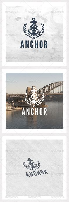 Anchor Logo Template #GraphicRiver Raise the anchor and set sail with this logo. Leave the competition in your wake. It's easy to add your own text and you're ready to navigate those treacherous waters. Technical Information: CMYK 300dpi for print and web. 100% vector shapes for easy resizing. Free font used: League Gothic In the zip we have: 3 EPS 10 files: Blue, Black and White. Info file.