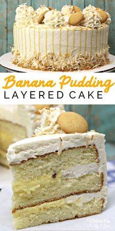 True lovers of both cake and banana pudding will flip for Banana Pudding Layered. - True lovers of both cake and banana pudding will flip for Banana Pudding Layered Cake. It calls for - Dessert Cake Recipes, Delicious Cake Recipes, Best Cake Recipes, Cupcake Recipes, Yummy Cakes, Cupcake Cakes, Yummy Food, Healthy Food, Best Birthday Cake Recipe