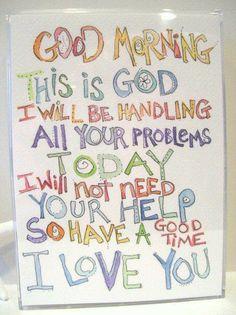 God is handling it!!