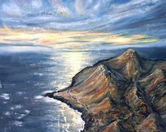 MonikaWinterArt on Etsy Fantasy Paintings, Landscape Paintings, End Of The World, Waves, Awesome, Etsy, Outdoor, Art, Outdoors