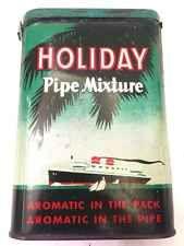 Tobacco Tin Holiday Pipe Mixture  Tobacciana Cigars Larus