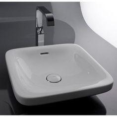 WS Bath Collections Ceramica Start Vessel Bathroom Sink