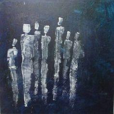 """Saatchi Art Artist Sonja Zeltner; Painting, """"communication in blue"""" #art"""