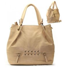 Golden Ring Hardware Purse and Bag / Handbag / Beige / Rcht805bge by MON REVE JEWELRY. $40.99. PURSE AND BAG / HANDBAG. H 13 INCH X W 14 1/2 INCH X D 5 INCH. HANDLES 8 INCH. REMOVABLE STRAP. GOLDEN HARDWARE. PURSE AND BAG / HANDBAG / POLYURETHANE / GOLDEN HARDWARE / ZIP TOP CLOSURE / BACK ZIP POCKET / FRONT TWO ZIP POCKET / INSIDE TWO ZIP AND TWO OPEN POCKETS / HANDLES 8 INCH / REMOVABLE STRAP / H 13 INCH X W 14 1/2 INCH X D 5 INCH. Save 18%!