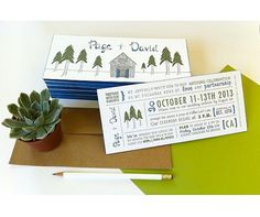 Rustic Forest & Barn - Letterpress Wedding Invitation