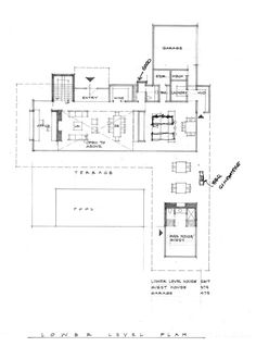 Retrospect Vineyards House,Lower Floor Plan
