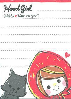 cute mini Memo Pad Little Red Ridinghood kawaii 3