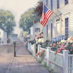 "The Heart of Home by Paul Landry OPEN EDITION CANVAS Image size: 10""w x 10""h."