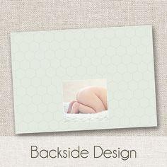 Modern Birth Announcement, Baby Girl Announcement, Baby Boy Birth Announcement, Photo Card, Photo Announcement. $14.95, via Etsy.