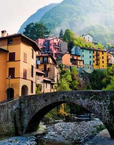 The Small Hilltown of Argegno on the Western Side of Lake Como..