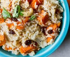 Sweet Potato Coconut Cashew Rice Bowl (sub couscous for rice)