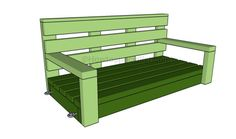 the bench of the swing pergola with your own hands