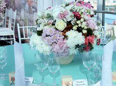 Бирюзово розовая свадьба