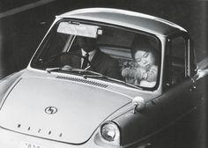 Yutaka Takanishi: Highway #7, Suginami Ward, Tokyo, 1965, black-and-white photograph.