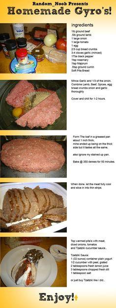 How To Make Homemade Gyros food baking recipe recipes dinner recipes meat recipes food tutorials food tutorial gyros